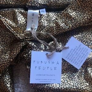 purusha people Pants - Purusha People Foil Gold Full Length Leggings SzXL